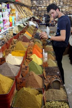 A Syrian vendor stands in his spices shop in the first day of the Muslim holy month of Ramadan in downtown Damascus, Syria,