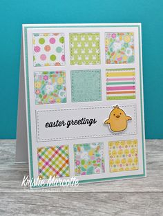 Easter is right around the corner, so I decided to get started on Easter cards. I used an older Doodlebug Design 6x6 paper pad called Easte...