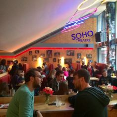 Soho Theatre Bar Soho, Theatre, Broadway Shows, Bar, Places, Lugares, Small Home Offices, Suho