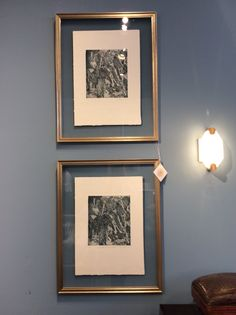 Spotted these elegant German etchings from Allison Paladino. Floating  in glass and framed in a burnished brass this collection creates a stunning hallway vignette, living room or bedroom. Stunning details and rich tones. Allison Paladino 118 S. Lindsay St.