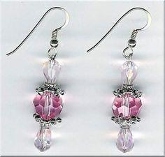Handmade Pink Crystal Beaded Necklace Set
