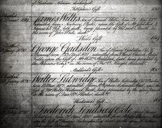 1820 George Gadsdon Christ's admittance