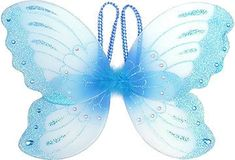 Blue Butterfly Jeweled Fairy Wings  Price $9.99 Butterfly Gifts, Blue Butterfly, Spring Fairy, Amy Brown, Fairy Gifts, Blue Wings, Blue Fairy, Fairy Jewelry, Fairy Doors