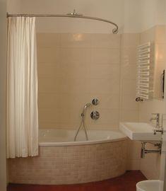 Tringle rideau de douche sur mesure baignoire asymétrique | GalboBain