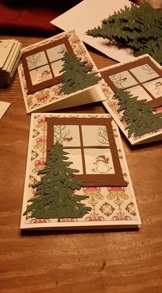 How to Make Awesome Handmade Christmas Cards Your Family Will Love - Christmas Trees Christmas Card Crafts, Homemade Christmas Cards, Christmas Cards To Make, Xmas Cards, Homemade Cards, Handmade Christmas, Holiday Cards, Christmas Decorations, Christmas Trees