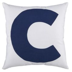 ABC Throw Pillows (Letter C)    Crate and Barrel