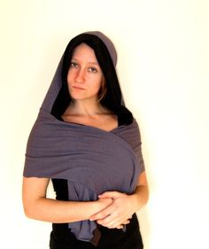 Reversible Hooded Scarf Soy and Bamboo by VioletStarCreations, $40.00