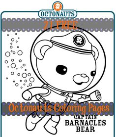 FREE Octonauts coloring pages (21 in all!). Just print and enjoy! #octonauts #octonautsbirthday #octonautsthemedbirthday
