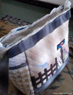 bolsa de retalhos com pássaro e lavanda.  Costure-se (14) (462x606, 155KB)