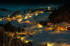 Visit Damüls, Austria    Damüls is a popular tourism resort in the district of Bregenz in Vorarlberg, Austria. Damüls also holds the world record of the municipality with the most annual snowfall - the average is 9.30 meters per year.