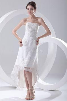 Robe de mariée sexy spécial simple en dentelle avec sans manches - photo 4