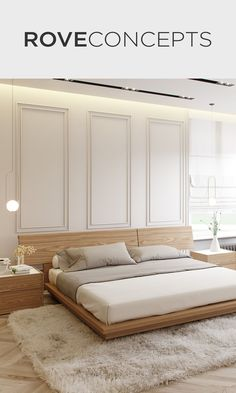 15 Mid Century Modern Bedroom Things You Need to Create. Mid-century modern bedroom style is very trendy now, everyone is trying to get a bit of retro into their homes. Bedroom Bed Design, Modern Bedroom Design, Interior Modern, Home Interior, Home Decor Bedroom, Interior Design, Contemporary Bedroom, Contemporary Design, Bedroom Ideas