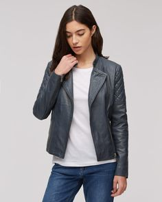 Biker jacket inspiration for autumn (none of them are black) - That's Not My Age