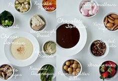 Cheese Fondue and Chocolate Fondue Recipes and Dippers