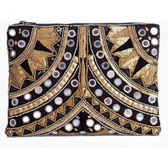 Boohoo Boutique Boutique Leah Embellished Statement Clutch Bag ($30) ❤ liked on Polyvore featuring bags, handbags, clutches, gold, envelope clutch bag, gold evening clutches, gold crossbody, crossbody handbags and crossbody purse