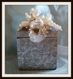 Songs of the Seagull Seashell Vanity Box by SuziesSeashellWorld, $69.00