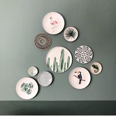 60 Best Wall Decoration Ideas Creative for Your Home - Pandriva Plate Wall Decor, Plates On Wall, Inspiration Wall, Interior Inspiration, Regal Design, Diy Casa, Casa Real, My New Room, Decoration