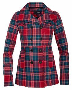 Hurley womens plaid coat