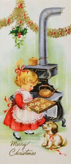 Vintage Christmas Card * 1500 Free Paper Dolls at Arielle Gabriel's The Inter … - Christmas Cards Vintage Christmas Images, Old Fashioned Christmas, Christmas Scenes, Christmas Past, Retro Christmas, Vintage Holiday, Christmas Pictures, Christmas Greetings, Christmas Baking