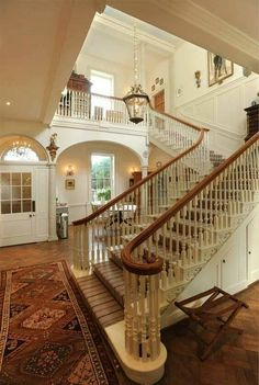 Grand traditional stair hall.