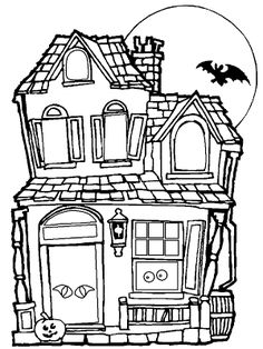haunted house coloring page free houses coloring pages