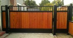 Картинки по запросу metal driveway gate white horizontal slats