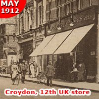 F. W. Woolworth opened a store in Croydon, Surrey, UK in May 1912. It went on to serve the South London suburb for ninety-six years