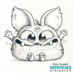 I'm thankful today that I can make goofy monsters for a living, and especially thankful for all of you that make it possible! 🍁🍂 A Lápiz De Tareas Creativa ? Cute Monsters Drawings, Cartoon Monsters, Little Monsters, Cartoon Drawings, Animal Drawings, Cute Drawings, Drawing Sketches, Doodle Monster, Monster Drawing