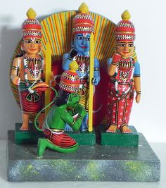 Ram Darbar - Kondapalli Dolls (Wood)