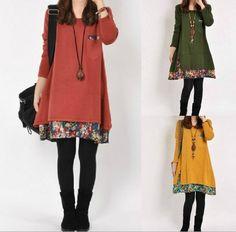 Sweater dress knitwear cotton dress long women by ElegantGens