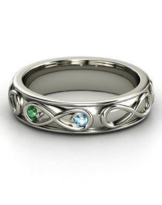 The Infinite Love ring w birthstones.
