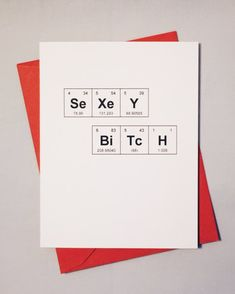 c0c9610e6 Galentine Sassy Valentine's Day Card Periodic Table of the Elements