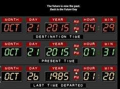 The future is now the past. A cultural shift has been pinpointed. Today is Back to the Future.