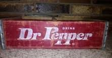 Dr Pepper Soda Crate Vintage FREE SHIPPING by FireFly5Girl on Etsy, $50.00