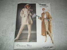 CHRISTIAN DIOR VOGUE PATTERN  PARIS ORIGINAL # 1637 COAT & PANTS Coat Patterns, Christian Dior, Vogue, Paris, The Originals, Best Deals, Jackets, Ebay, Fashion