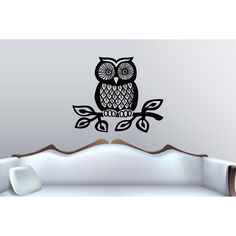 Owl looking Wall Art Sticker Decal