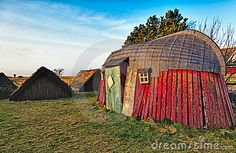 traditional Viking boat house