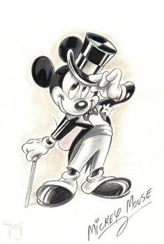Ultra Stylish Mickey Mouse – Original Painting – Tony Fernandez – W. Ultra Stylish Mickey Mouse – Original Painting – Tony Fernandez – W. Mickey Mouse Drawings, Mickey Mouse Art, Mickey Mouse Wallpaper, Walt Disney Mickey Mouse, Cute Disney Drawings, Disney Wallpaper, Cartoon Drawings, Disney Pixar, Mickey Drawing