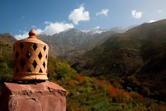 Views of mountains & trees, Tamatert, Imlil, Morocco