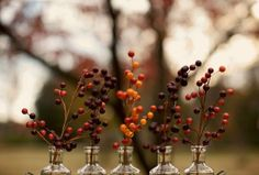 fall wedding decor - use berries