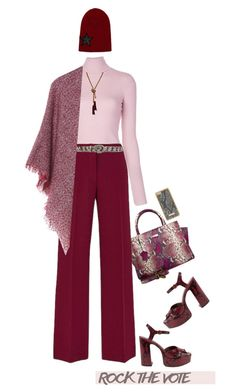 """""""Rock the Vote in Style'"""" by dianefantasy ❤ liked on Polyvore featuring Leatherbay, A.L.C., Marc Jacobs, GUESS, Gucci, Skinnydip, polyvorecommunity, polyvoreeditorial and rockthevote"""