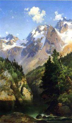 Un pic des Rocheuses, dans l Idaho Territory, huile sur toile de John Ferguson Weir (1841-1926, United States)