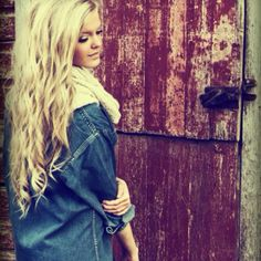 long,blonde hair and a jean jacket ? sign me up !