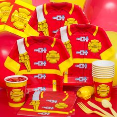 Firefighter Party Favors Pack - Walmart.com