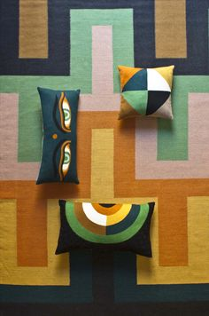 stitched cushions by @lindellandco