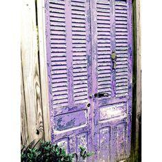 Door Photography, Purple Door, Old Doors, Cottage Chic, Gate, Shabby, Rustic Farmhouse, Chippy Paint, Bungalow, Lavender, Art Print