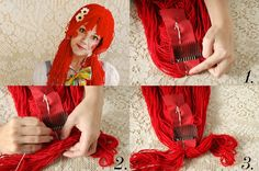 rag doll hair DIY