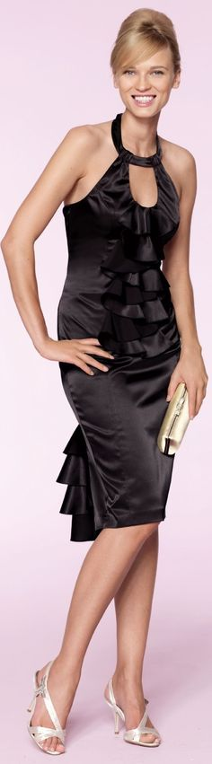 Love the dress...with black or blue heels :)
