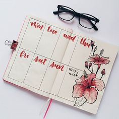 Top 10 Red Bullet Journal Spreads from this Week! - My Inner Creative, Bullet Journal, Bullet Journal Disney, Bullet Journal Planner, Digital Bullet Journal, Bullet Journal Weekly Layout, Bullet Journal Junkies, Bullet Journal Spread, Bullet Journal Inspo, Hibiscus Drawing, Bullet Journel
