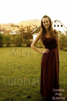 Maxi dress tutorial de peinados